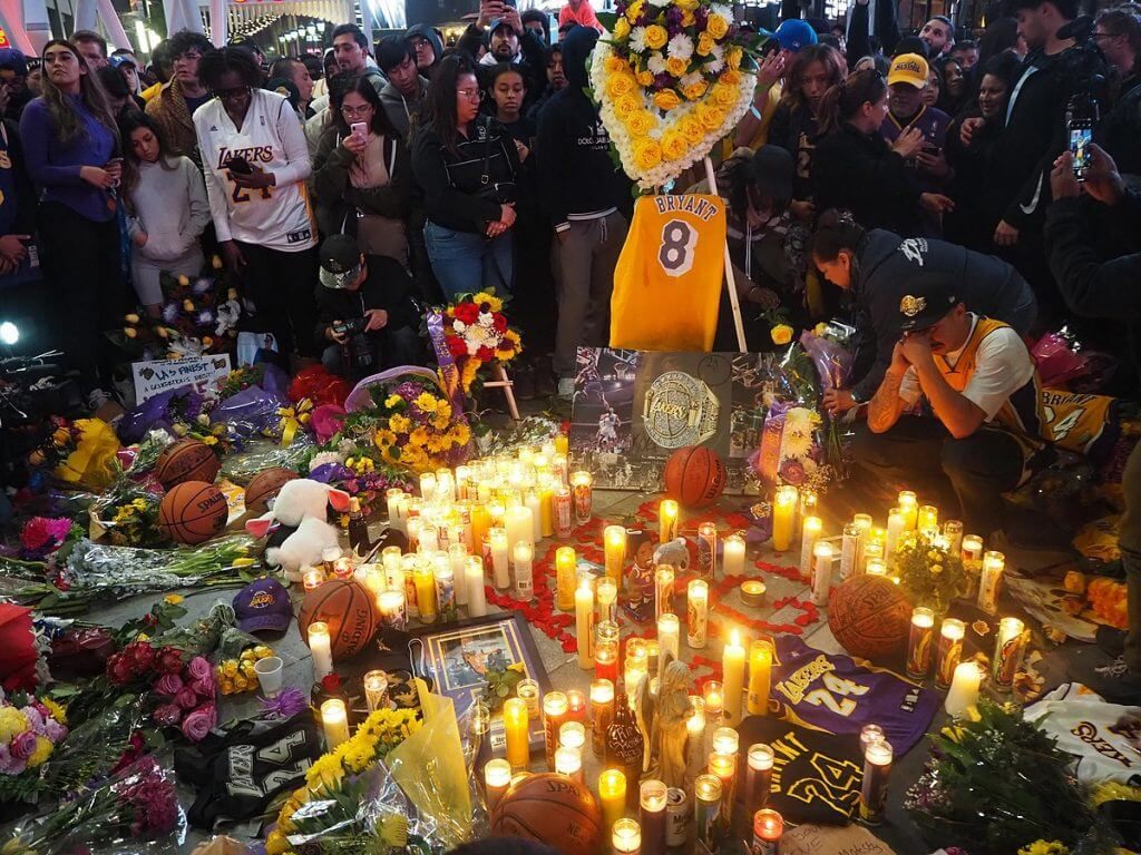 Kobe Bryant memorial at Staples Center